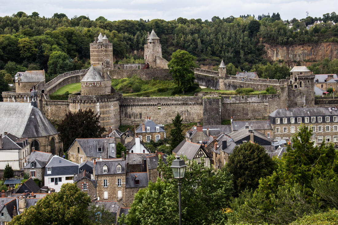 Castle of Fougeres seen from the Church of St Leonard
