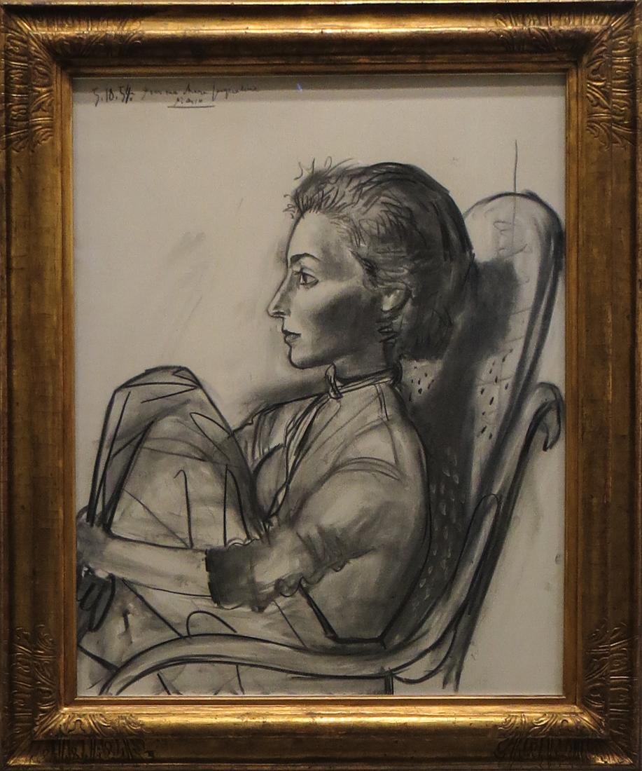Woman sitting, 1954