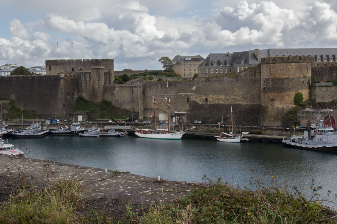 The Chateau de Brest, Vauban fortifications, and the River Penfeld