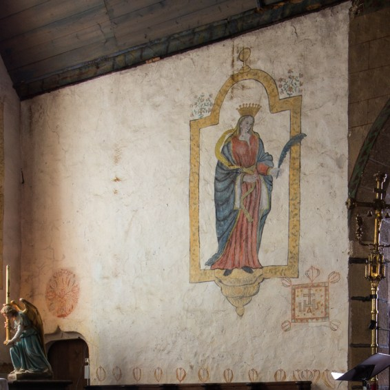 Wall paintings in Argol Church