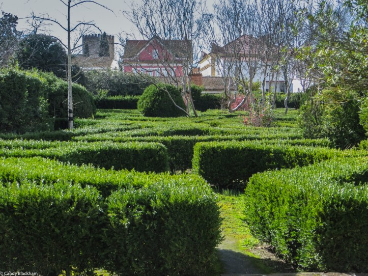 The formal gardens in Alter do Chao