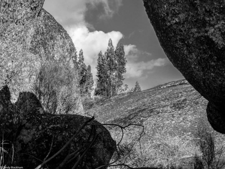 Granite outcrops on the M524, Alentejo