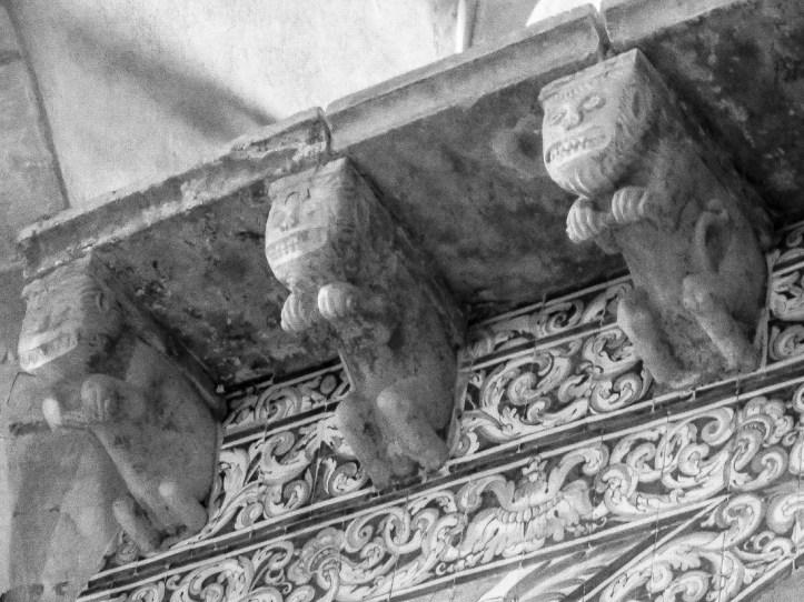 Carvings in the Church of St James, Pousada at Palmela