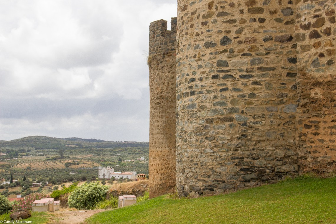 The Castle of Portel, with the Convent of Sao Francisco da Piedade in the background