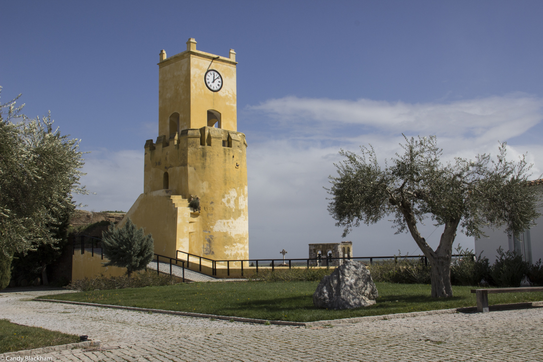 The Arab Saluquia Tower inside the Castle of Moura