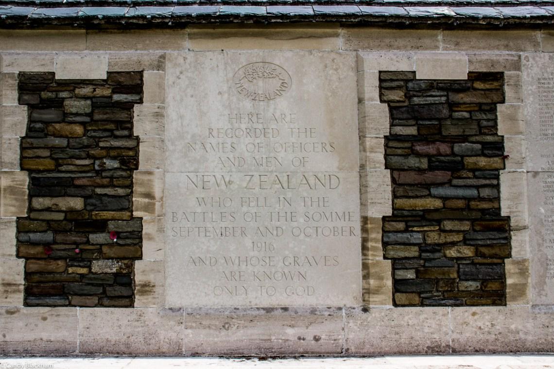 The New Zealand Memorial in Caterpillar Valley Cemetery