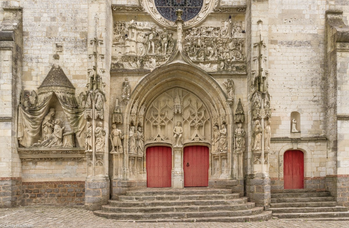The facade of the Church of St Pierre, Mailly-Maillet
