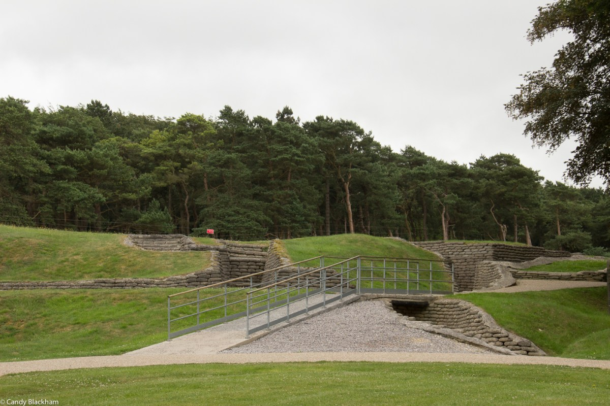 Trenches and tunnels in the Memorial Park at Vimy Ridge