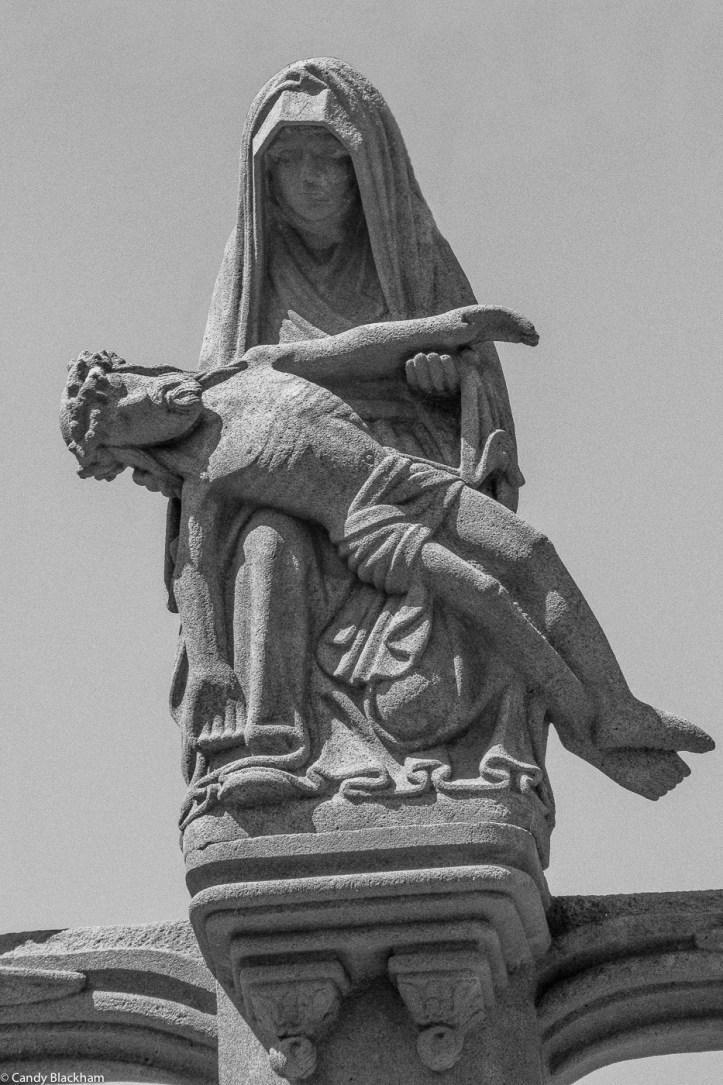 Pieta on the Calvary, Church of St Melar, Locmelar