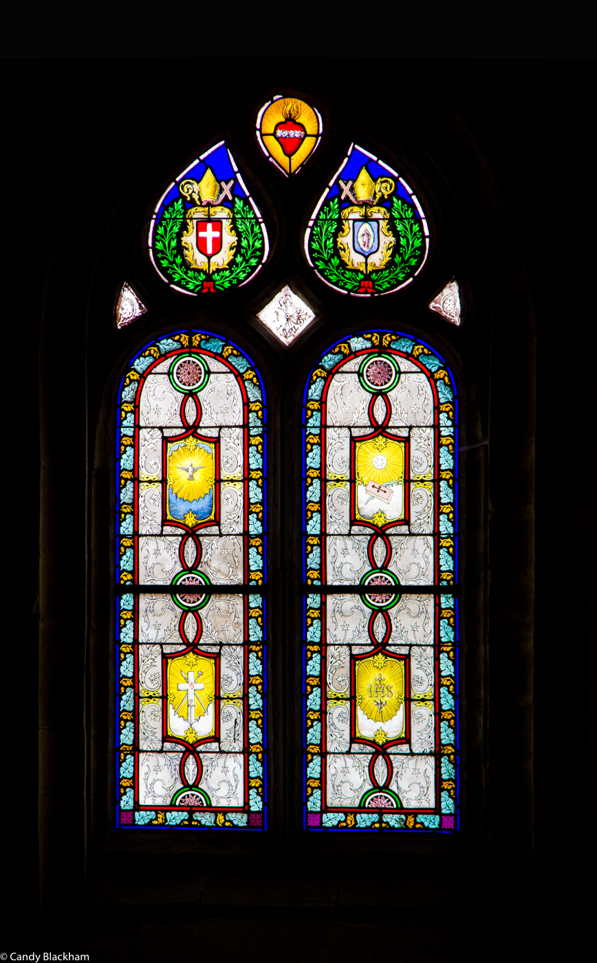 Stained glass in the Church of St Yves, La Roche-Maurice