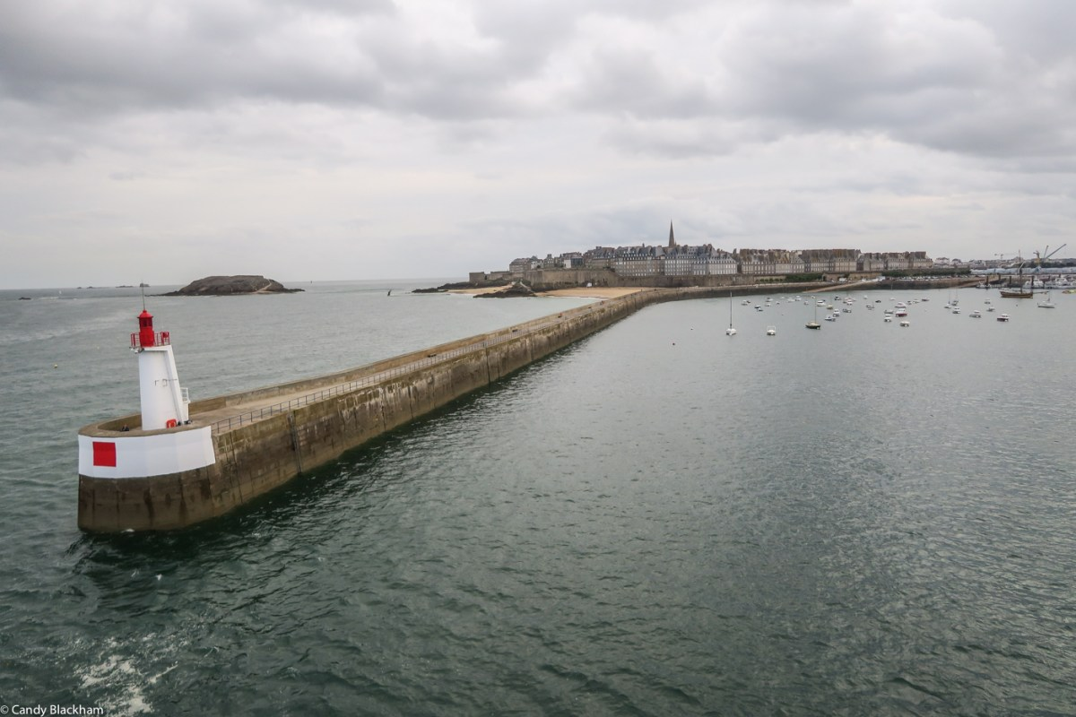 Entering the harbour of St Malo