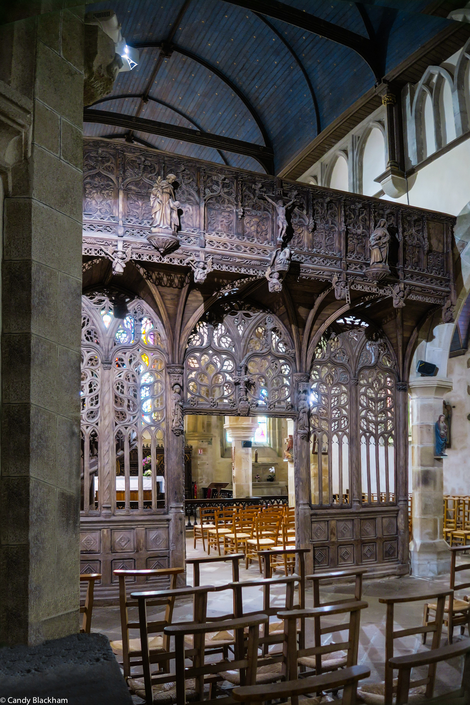 The Rood Screen in the Church of Notre Dame of Lambader