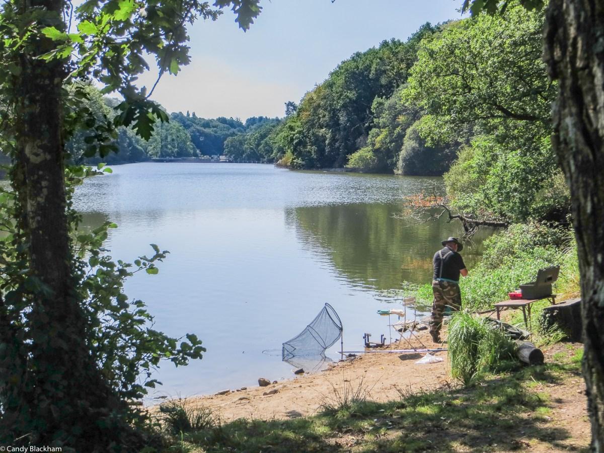 The fishing lake at St Degan