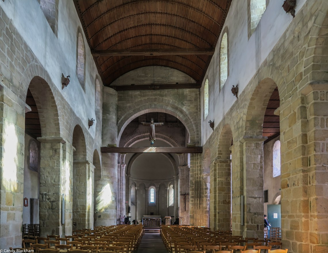 The Nave of the Church of Locmaria