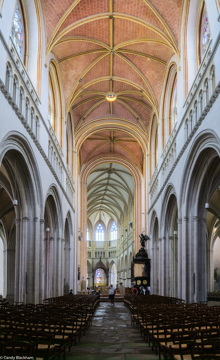 The 'weeping nave' in the Cathedral of St Corentin, Quimper