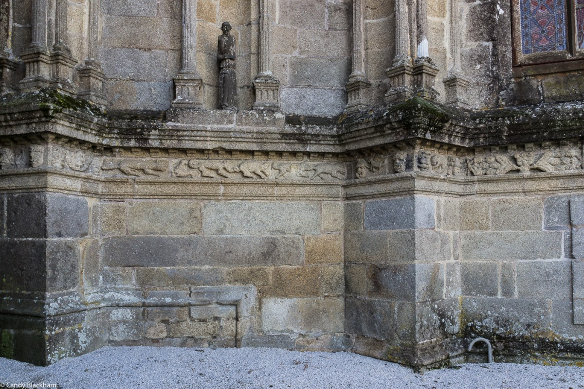 The frieze on the Church of St Suliau, Sizun