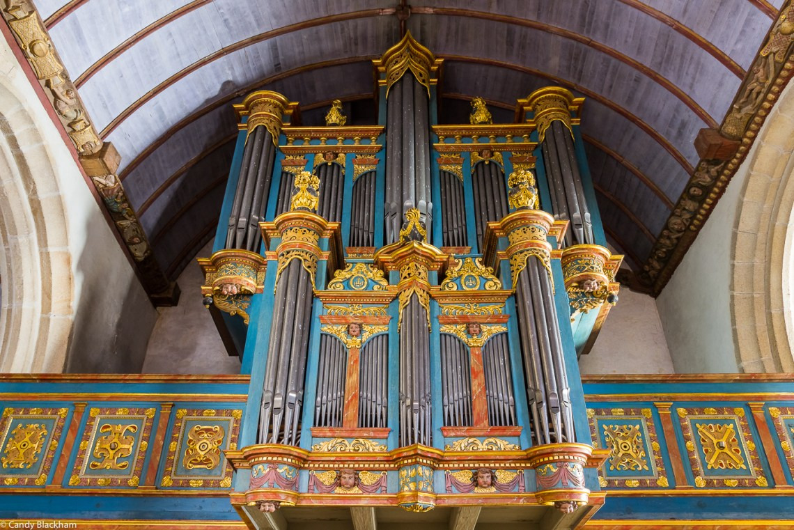 The organ at the rear of the Church of St Germain, Pleyben
