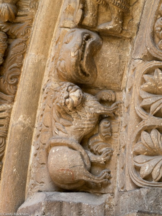 Lion over the main doorway