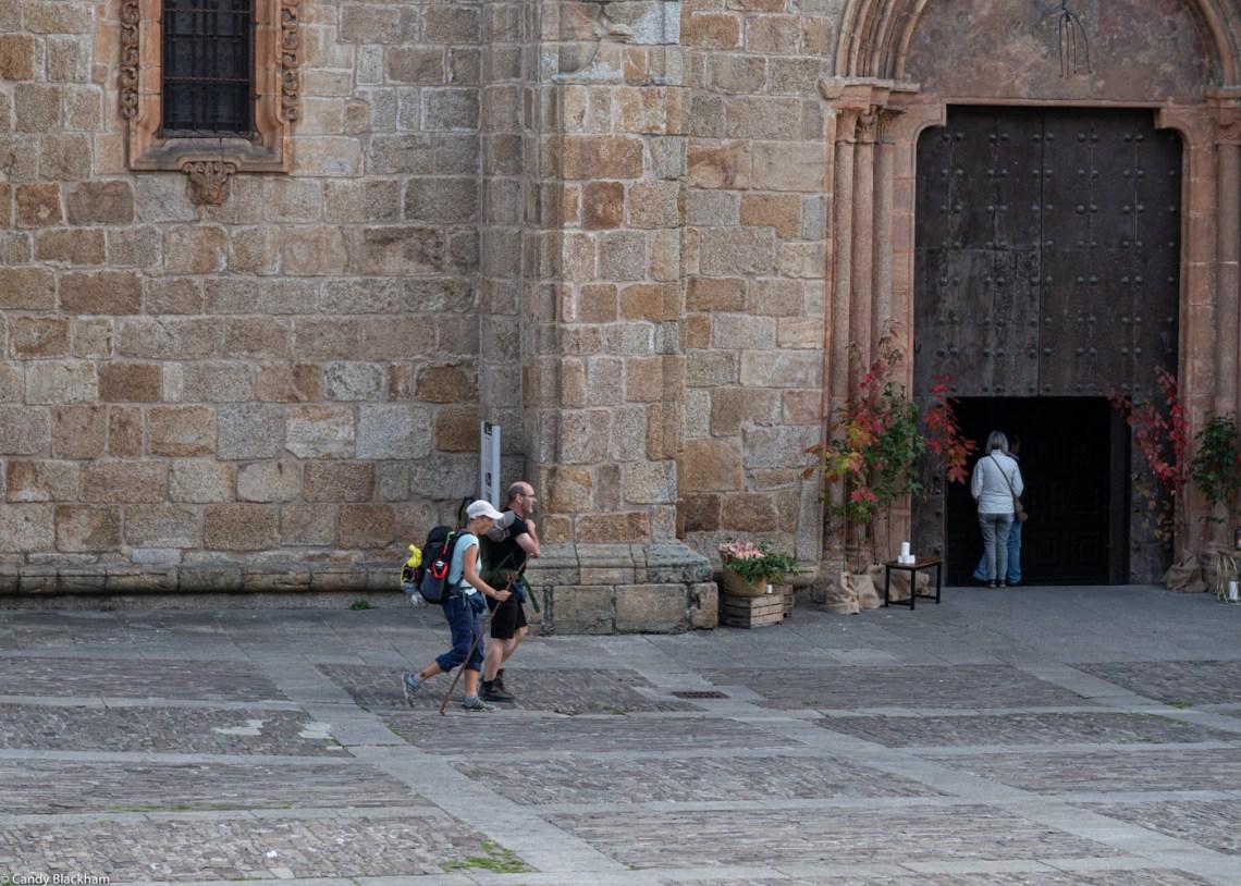 Pilgrims passing through Mondonedo