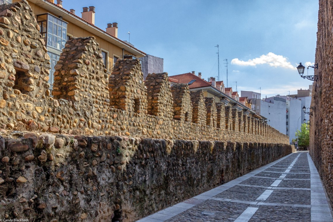 The Calle las Cercas - the Mediaeval walls