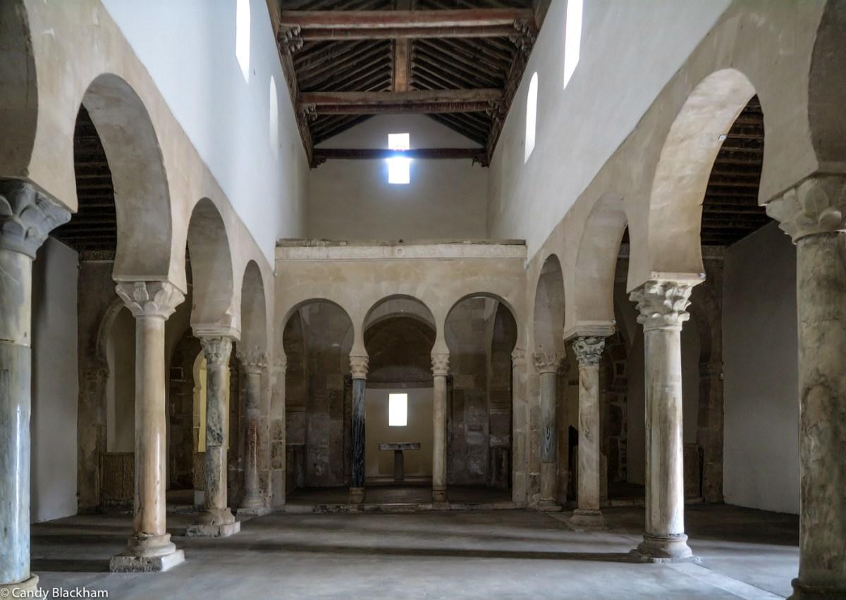 Inside the Monastery of San Miguel de Escalada