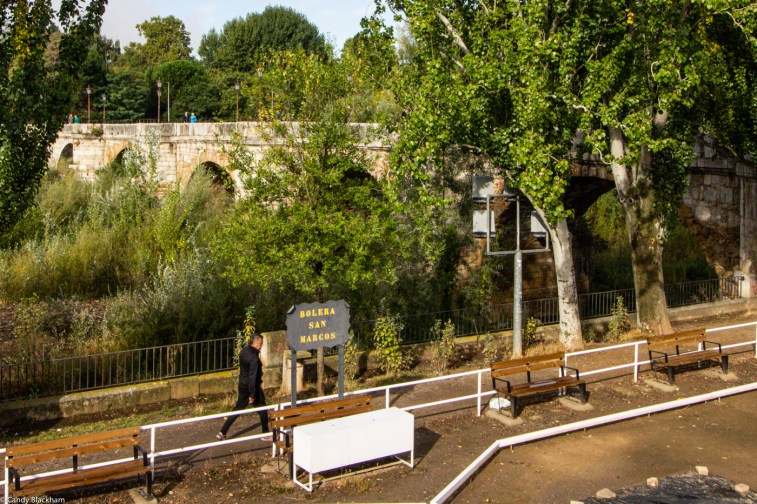 The Roman Bridge (and the Camino) over the Bernesga River