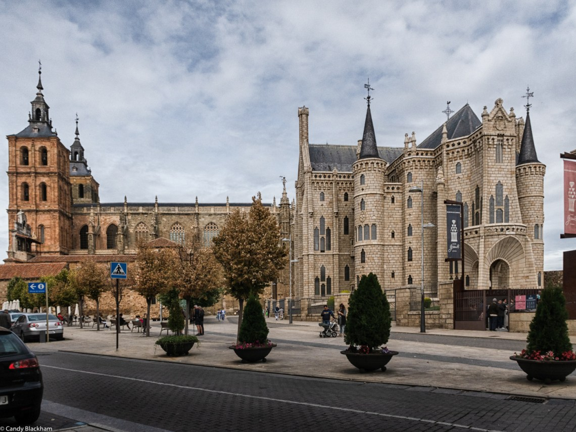 The Cathedral (L) and Episcopal Palace (R) in Astorga