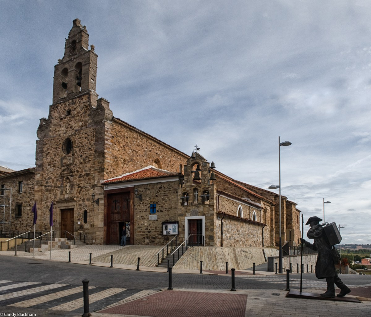 The Church of San Francisco, and the small Chapel of Santa Vera Cruz in Astorga