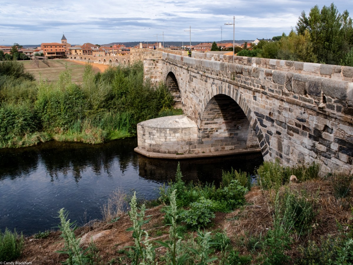 The Camino over The Mediaeval Bridge in Hospital de Orbigo