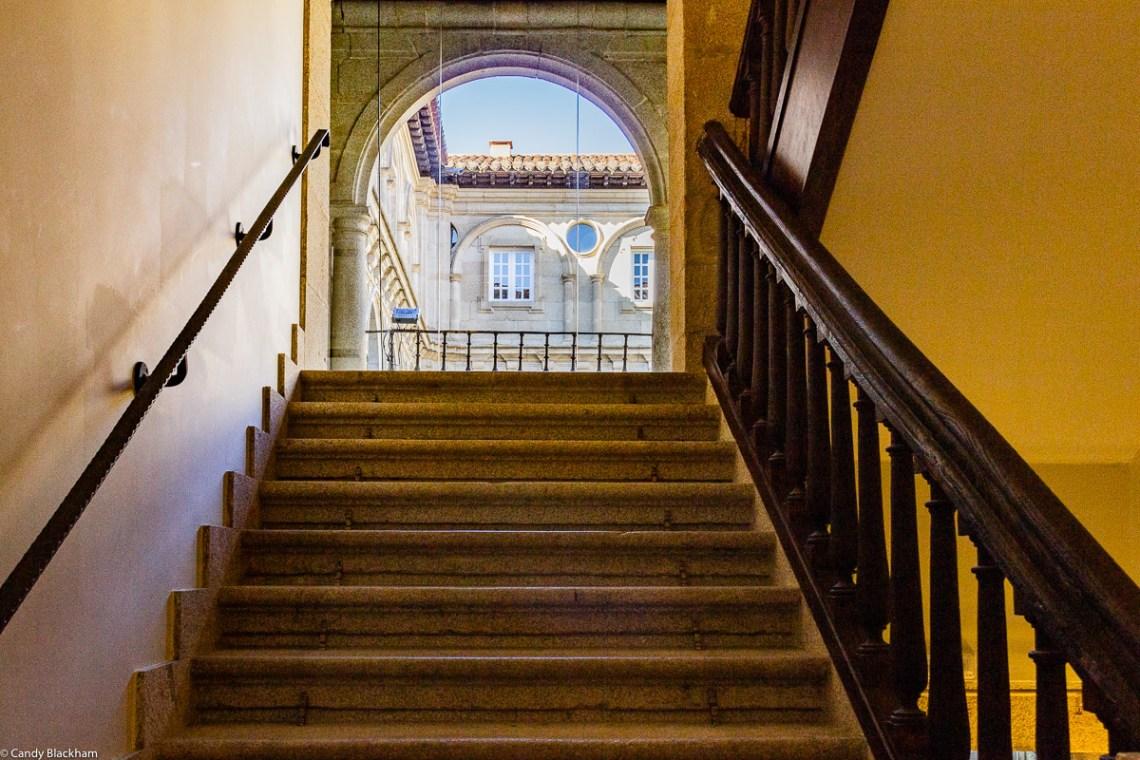 Inside the Parador of Monforte de Lemos