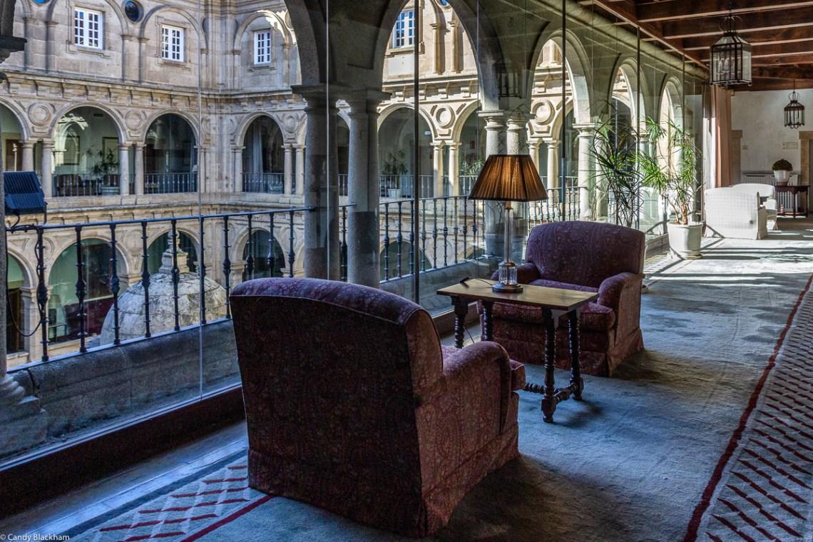 In the upper cloister of the Parador of Monforte de Lemos