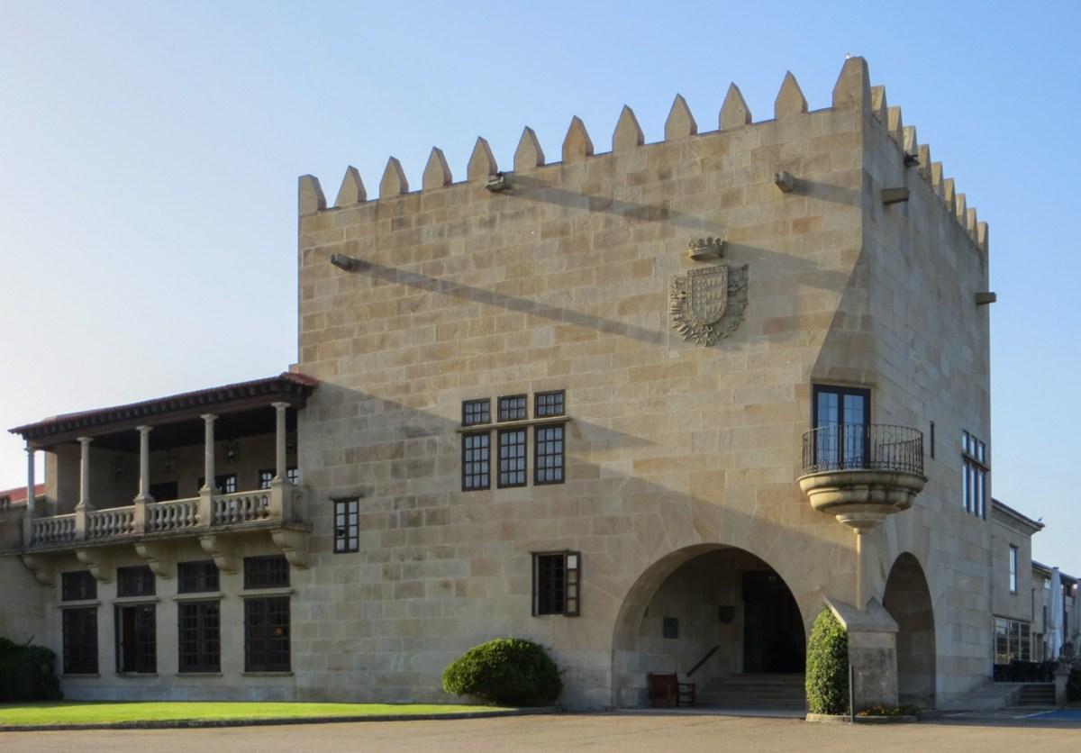 Entrance of the Parador in Baiona