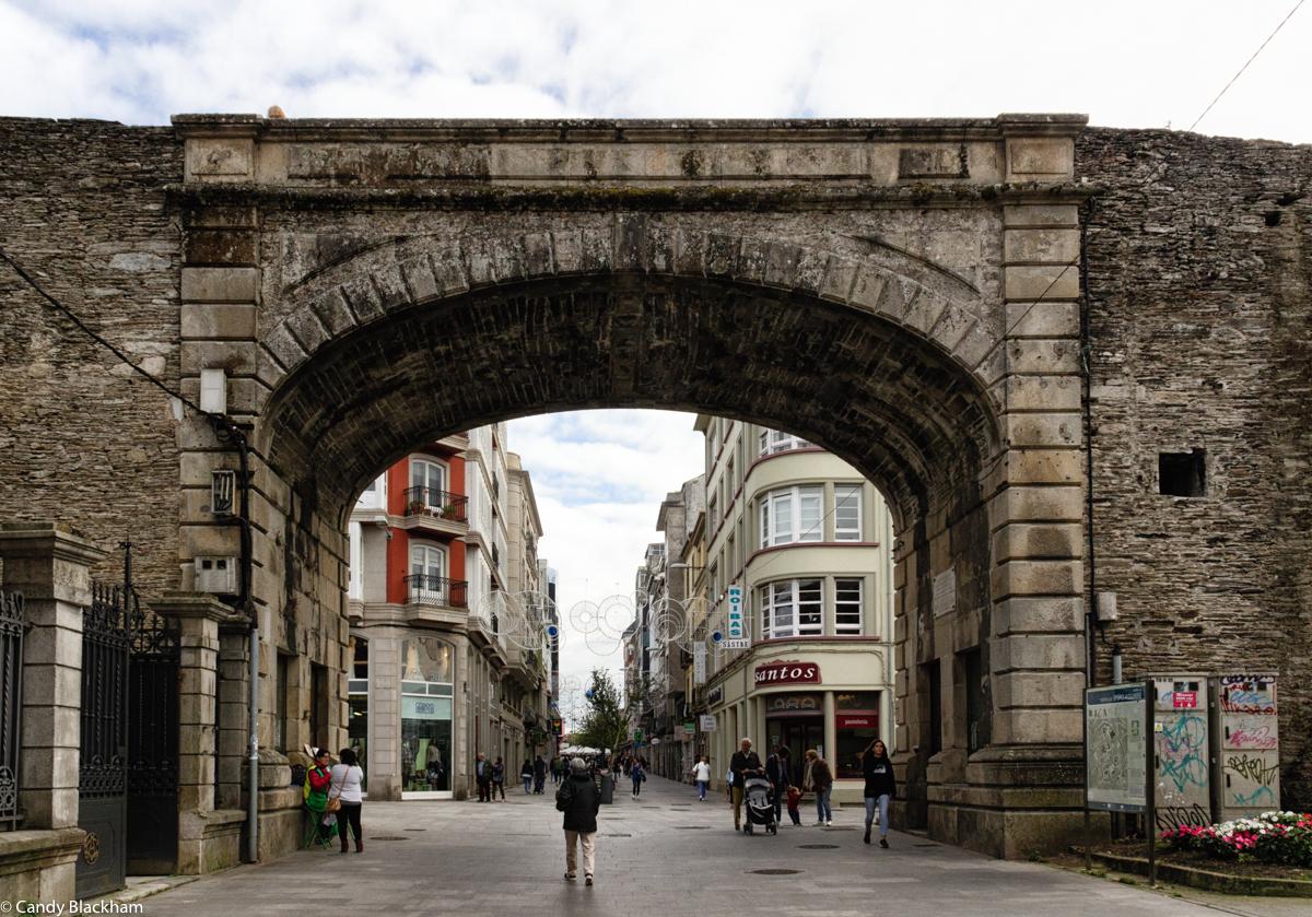 The Bishop Aguirre Gate in Lugo