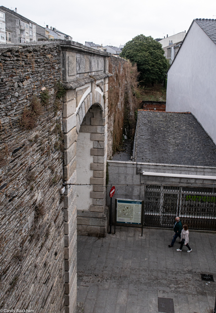 Gate of the Station in the Roman walls of Lugo