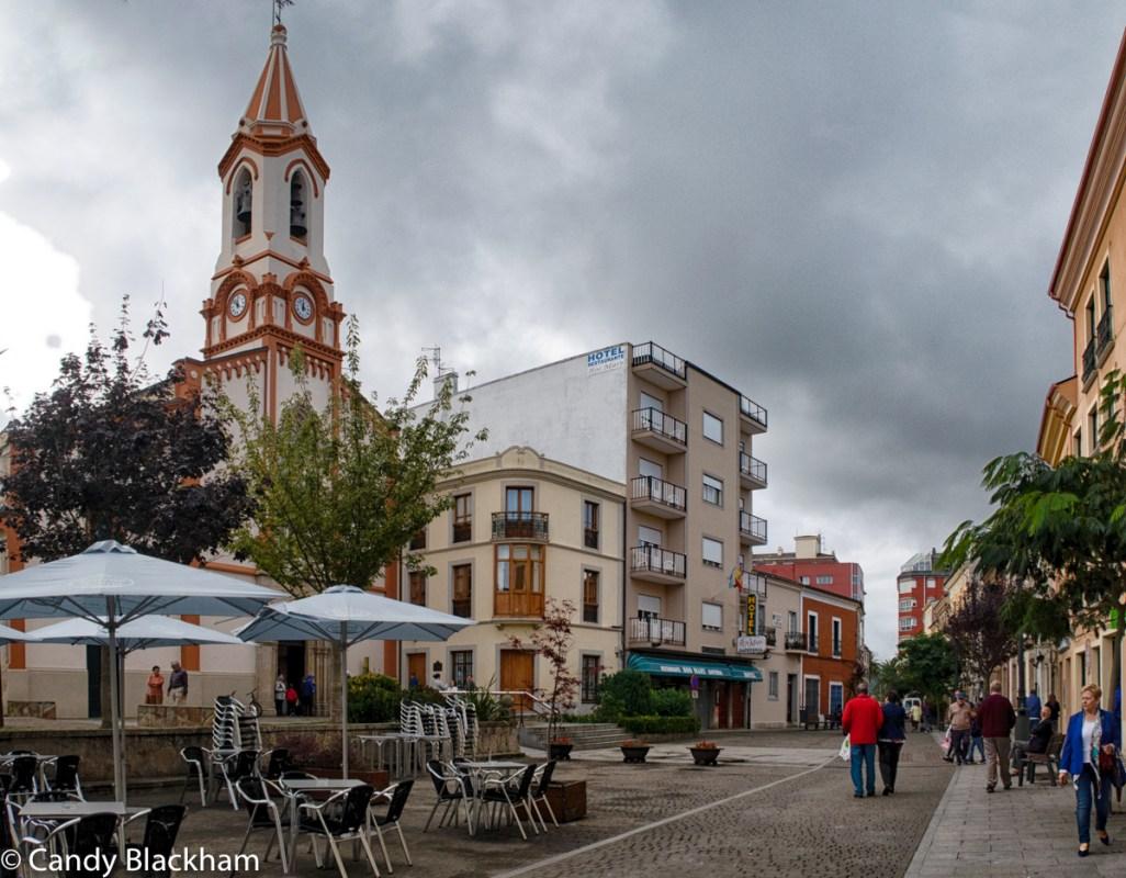 Plaza Espana near Santa Maria del Campo