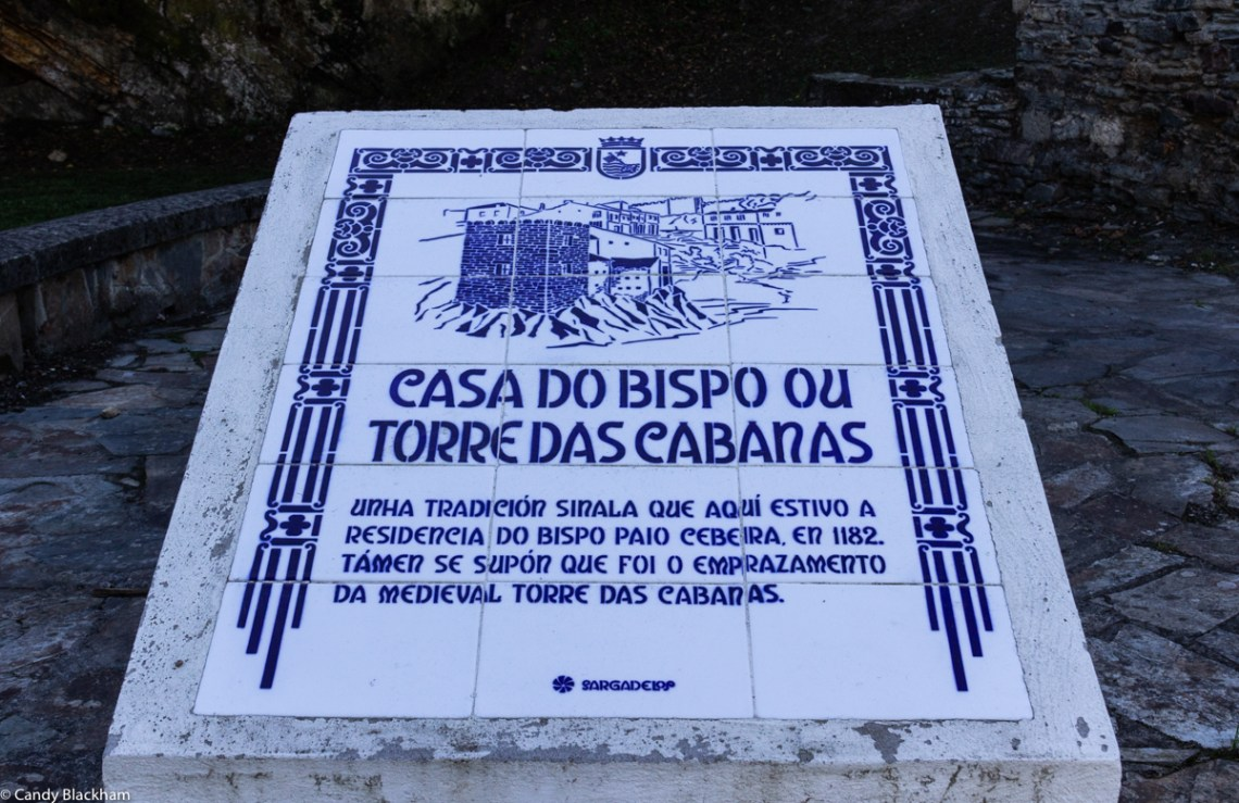 Signpost in Ribadeo
