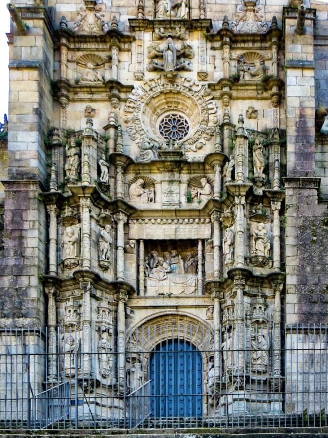 Main door of Santa Maria Maior in Pontevedra