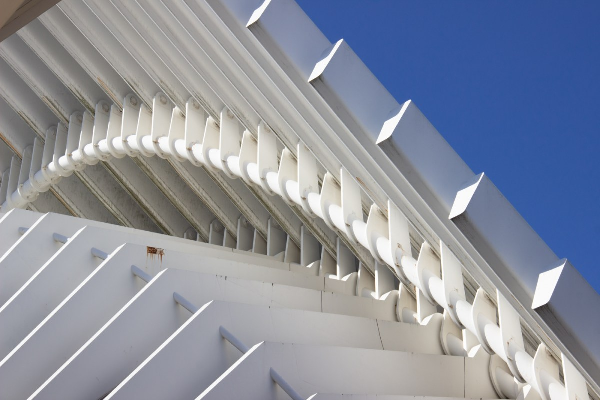 Curved roof of the auditorium and conference centre