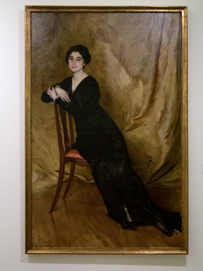 'Retrato de Luz Ojeda' by Jose Ramon Zaragoza, 1912, in the Museum of Fine Arts in Oviedo