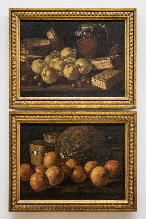 Still life paintings by Melendez in the Museum of Fine Arts in Oviedo