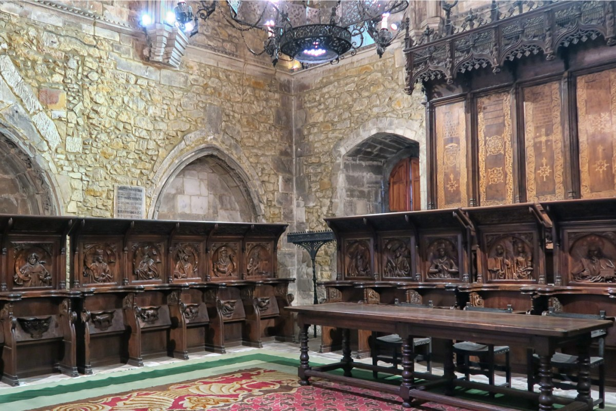 Remains of the Gothic Choir Stalls preserved in the Chapter House
