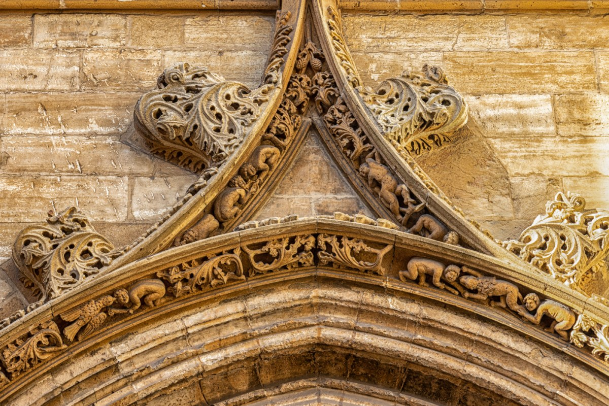 Carvings on the Cathedral of Ovedo