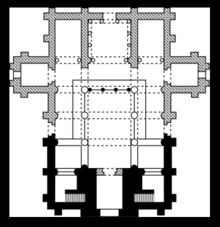 Plan of the original church of San Miguel de Lillo