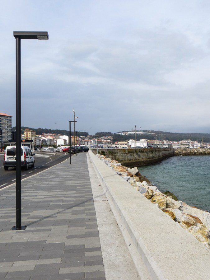 Sea front in Ribeira on a day trip from Cambados