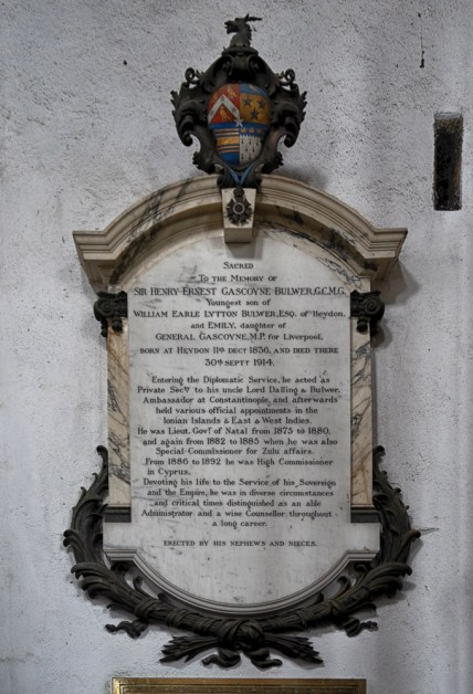 Memorial to Sir Henry Bulwer