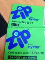 zip Oyster card londra