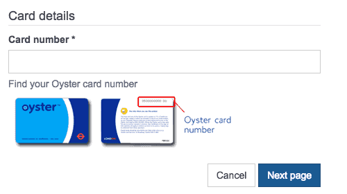 oyster card online