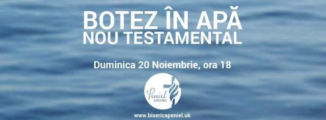 Botez in apa – Peniel / Londra