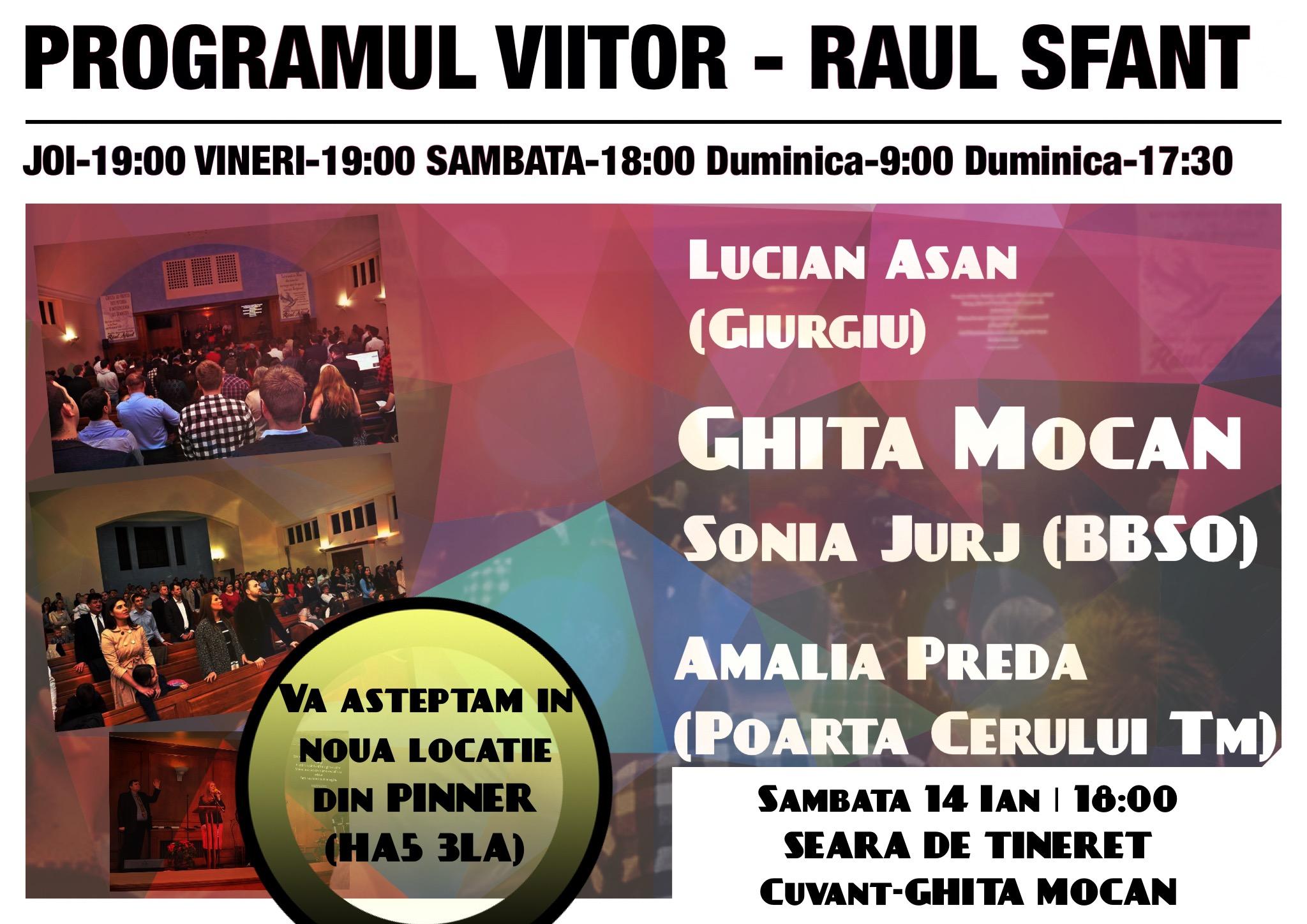 Ghita Mocan va predica Sambata la Biserica Raul Sfant – Londra