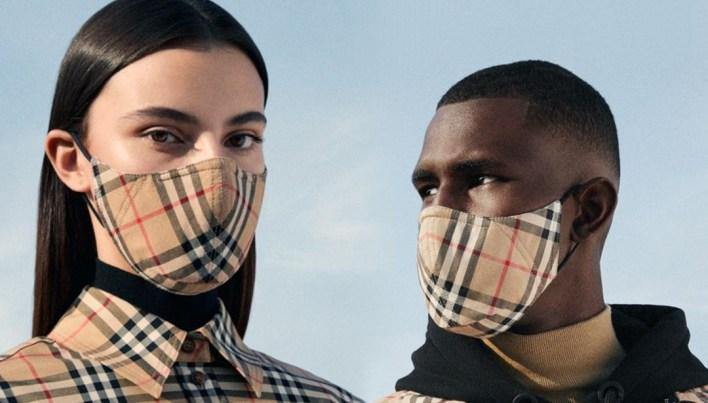 Burberry corona virüs maskesi tasarladı